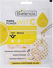 Fragrances, Perfumes, Cosmetics Serum Activator Dry Facial Sheet Mask - Bielenda Power Vit.C Mask + Illuminating Serum