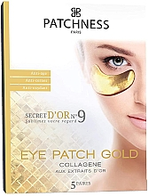Fragrances, Perfumes, Cosmetics Anti-Aging Gold Eye Patches - Patchness Eye Patch Gold