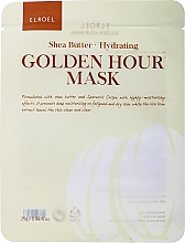 Fragrances, Perfumes, Cosmetics Moisturizing Facial Sheet Mask - Elroel Golden Hour Mask Shea Butter Hydrating