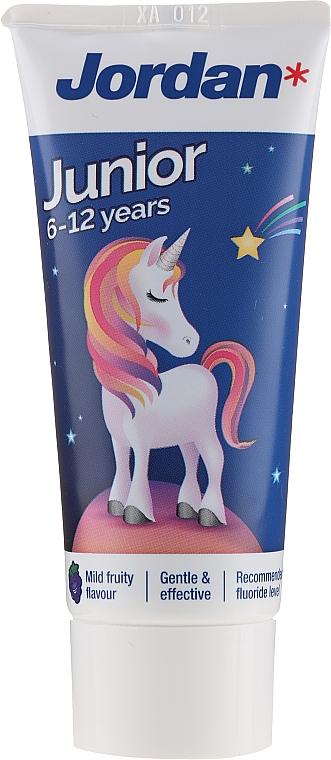 Kids Toothpaste 6-12 years, unicorn - Jordan Junior Toothpaste