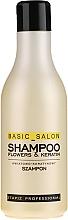 "Fragrances, Perfumes, Cosmetics Hair Shampoo ""Flower & Keratin"" - Stapiz Basic Salon Shampoo Flowers&Keratin"