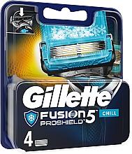 Fragrances, Perfumes, Cosmetics Shaving Razor Refills, 4 pcs. - Gillette Fusion Proshield Chill