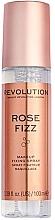 "Fragrances, Perfumes, Cosmetics Makeup Fixing Spray ""Rose"" - Makeup Revolution Precious Stone Rose Fizz Makeup Fixing Spray"