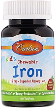 Fragrances, Perfumes, Cosmetics Kids Iron Dietary Supplement with Natural Strawberry Flavor, chewable tablets - Carlson Labs Kid's Chewable Iron