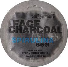 "Fragrances, Perfumes, Cosmetics Face Mask ""Charcoal & Spirulina Sea"" - Cafe Mimi Charkoal & Spirulina Sea Face Mask"