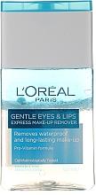 Fragrances, Perfumes, Cosmetics Eye & Lip Waterproof Makeup Remover - L'Oreal Paris Gentle Eyes&Lips Express Make-Up Remover Waterproof