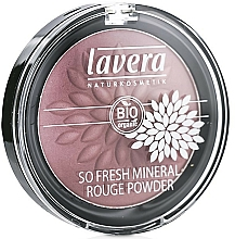 Fragrances, Perfumes, Cosmetics Mineral Face Blush - Lavera So Fresh Mineral Rouge Powder