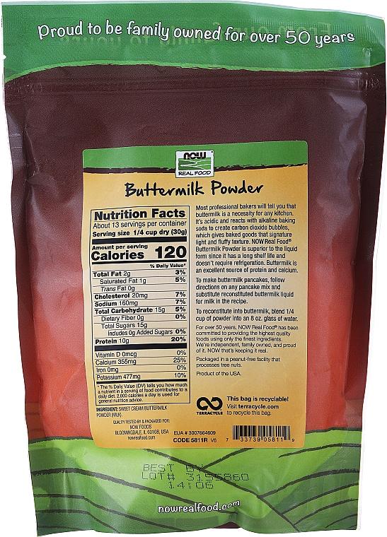 Buttermilk Powder - Now Foods Real Food Buttermilk Powder — photo N2