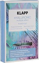 Fragrances, Perfumes, Cosmetics Set - Klapp Hyaluronic Multiple Effect Power Set (f/conc/3x2ml + f/cr/3ml)