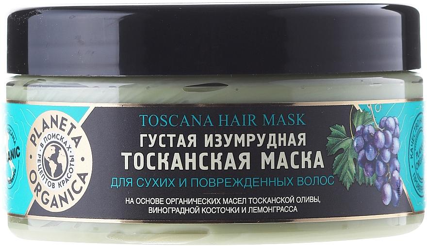 "Dry & Damaged Hair Mask ""Emerald Tuscan"" - Planeta Organica Toscana Hair Mask"