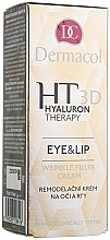 Fragrances, Perfumes, Cosmetics Eye and Lip Cream with Hyaluronic Acid - Dermacol Hyaluron Therapy 3D Eye and Lip Wrinkle Filler Cream
