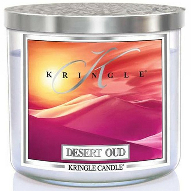 Scented Candle in Glass - Kringle Candle Desert Oud — photo N1