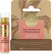 Fragrances, Perfumes, Cosmetics Propolis & Cocoa Butter Lip Balm - Green Feel's Natural Lip Balm