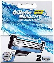 Fragrances, Perfumes, Cosmetics Replacement Shaving Cassettes, 2 pcs - Gillette Mach3 Start