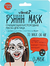 Fragrances, Perfumes, Cosmetics Cleansing Oxygen Facial Mask with Charcoal & Acid + Complex - Vilenta Pshhh Mask