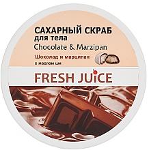 Fragrances, Perfumes, Cosmetics Sugar Body Scrub - Fresh Juice Chocolate and Marzipan