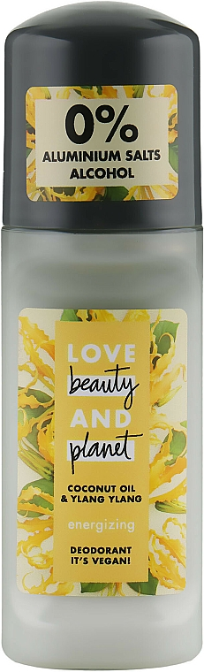 """Roll-on Deodorant """"Ylang-Ylang and Coconut Flowers"""" - Love Beauty&Planet Deodorant Roller Coconut Oil And Ylang Ylang"""