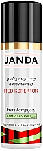 Fragrances, Perfumes, Cosmetics Facial Red Corrector - Janda Corrector Capillary Skin Cream