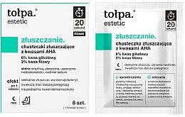 Fragrances, Perfumes, Cosmetics Exfoliating Wipes with AHA Acids - Tolpa Estetic Exfoliating Wipe
