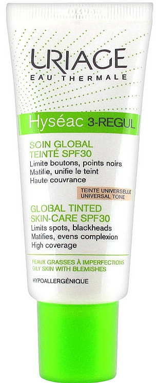 Tinted Skin-Care SPF 30 - Uriage Hyséac 3-Regul Global Tinted Skin-Care SPF 30