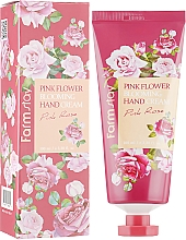 Fragrances, Perfumes, Cosmetics Rose Hand Cream - FarmStay Pink Flower Blooming Hand Cream Pink Rose