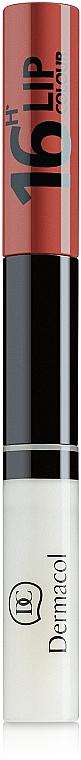 Long-Lasting Lip Color 2 in 1 - Dermacol 16H Lip Colour
