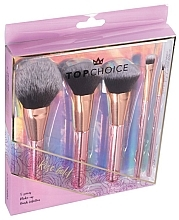 Fragrances, Perfumes, Cosmetics Makeup Brush Set, 5pcs, 37351 - Top Choice Rose Gold