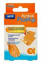Fragrances, Perfumes, Cosmetics Corn-Cure Plasters with Salicylic Acid - Ntrade Active Plast Special Corn-Cure Plasters For Cutting