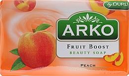 Fragrances, Perfumes, Cosmetics Soap - Arko Fruit Boost Beaty Soap Peach