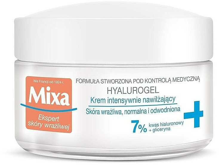 Moisturizing Face Cream-Gel - Mixa Sensitive Skin Expert Hyalurogel