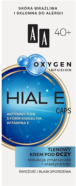 Oxygen Infusion Eye Cream 40+ - AA Oxygen Infusion Hial E Caps Eye Cream
