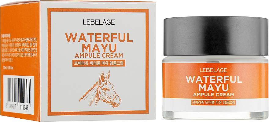 Horse Oil Face Cream - Lebelage Waterful Mayu Ampule Cream