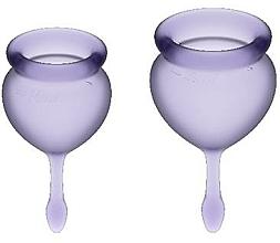 Fragrances, Perfumes, Cosmetics Menstrual Cup Set, purple - Satisfyer Feel Good Menstrual Cups Lila (2pcs)
