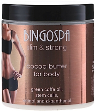 Fragrances, Perfumes, Cosmetics Body Cocoa Butter with Stem Cells, Retinol and D-panthenol - BingoSpa