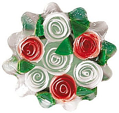 "Fragrances, Perfumes, Cosmetics Glycerin Soap ""Rose Fantasy"", white-red - Bulgarian Rose Soap"
