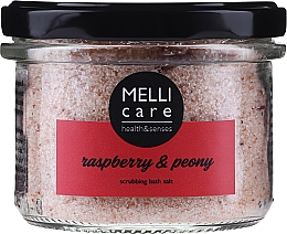 Fragrances, Perfumes, Cosmetics Natural Exfoliating Bath Salt - Melli Care Raspberry & Peony Scrubbing Bath Salt
