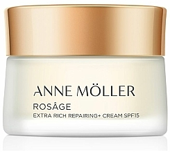 Fragrances, Perfumes, Cosmetics Face Cream - Anne Moller Rosage Crema Extra Rica Spf15