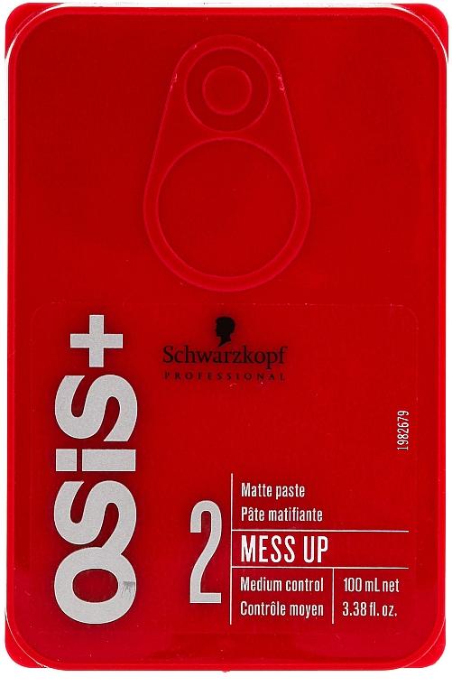 Hair Wax with Matte Effect - Schwarzkopf Professional Osis+ Mess Up Matt Gum