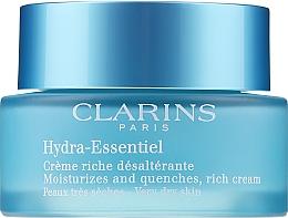 Fragrances, Perfumes, Cosmetics Moisturizing Cream for Dry Skin - Clarins Hydra-Essentiel Rich Cream