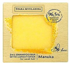 Fragrances, Perfumes, Cosmetics Shampoo-Conditioner Bar - Stara Mydlarnia Manuka 2in1 Shampoo Bar
