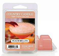 Fragrances, Perfumes, Cosmetics Wax for Aroma Lamp - Country Candle Peach Bellini Wax Melts