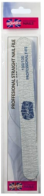 "Nail File, 100/100, grey, ""RN 00279"" - Ronney Professional"