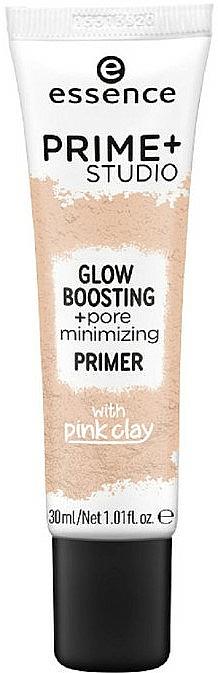 Face Primer - Essence Prime+Studio Glow Boosting + Pore Minimizing Primer — photo N1