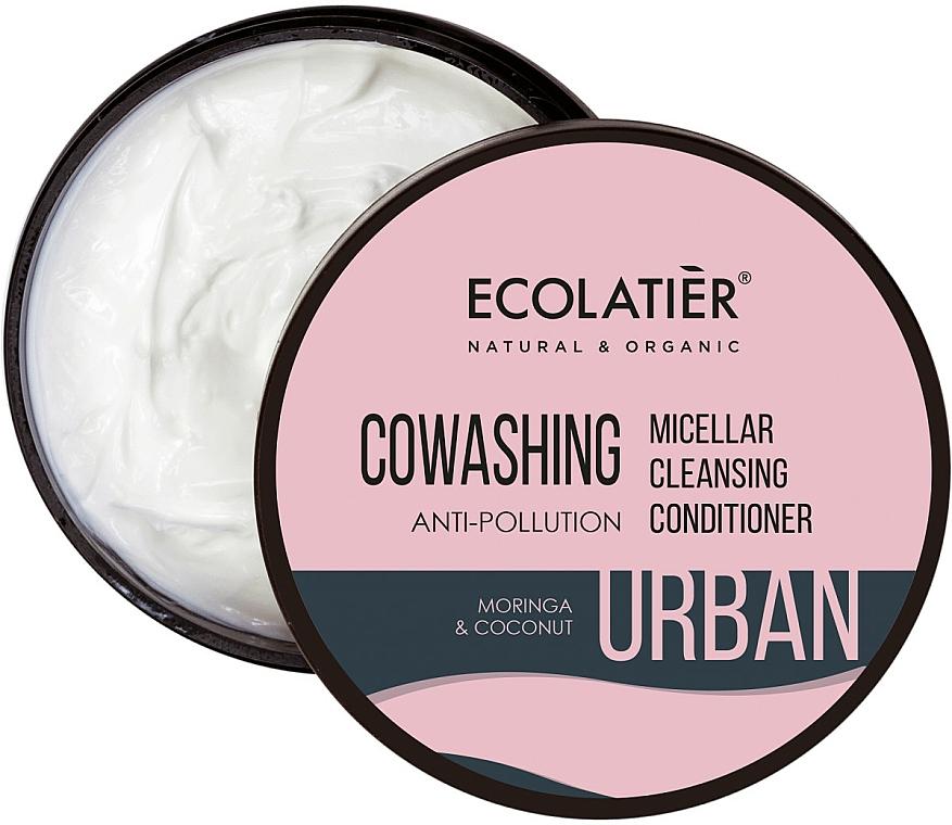 "Micellar Hair Balm ""Moringa & Coconut"" - Ecolatier Urban Micellar Cleansing Conditioner"