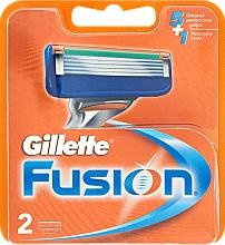 Fragrances, Perfumes, Cosmetics Shaving Razor Refills, 2 pcs. - Gillette Fusion