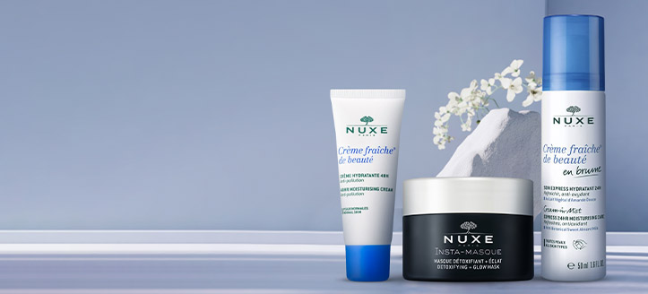 Get a free moisturizing face cream when buying NUXE products for the amount of £19 or more