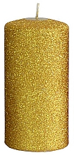 Fragrances, Perfumes, Cosmetics Decorative Candle, gold, 7x14 cm - Artman Glamour