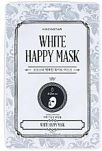 Fragrances, Perfumes, Cosmetics Face Sheet Mask - Kocostar White Happy Mask