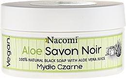 Fragrances, Perfumes, Cosmetics Black Soap with Aloe Vera Juice - Nacomi Savon Noir Natural Black Soap with Aloe Vera Juice
