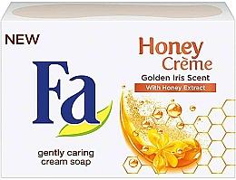 "Fragrances, Perfumes, Cosmetics Soap ""Golden Iris Scent"" - Fa Honey Creme Golden Iris Cream Soap"